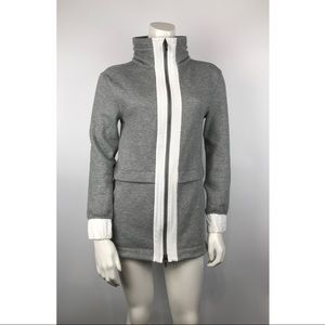 Lululemon Full zip long jacket gray size 2